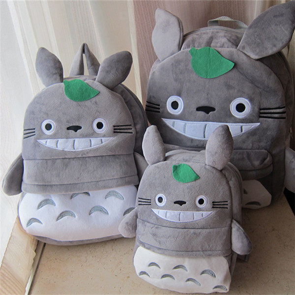 New arrival Totoro school bag cartoon totoro cat backpack kids plush school bag hotsale cute Children zoo backpack Free shipping(China (Mainland))