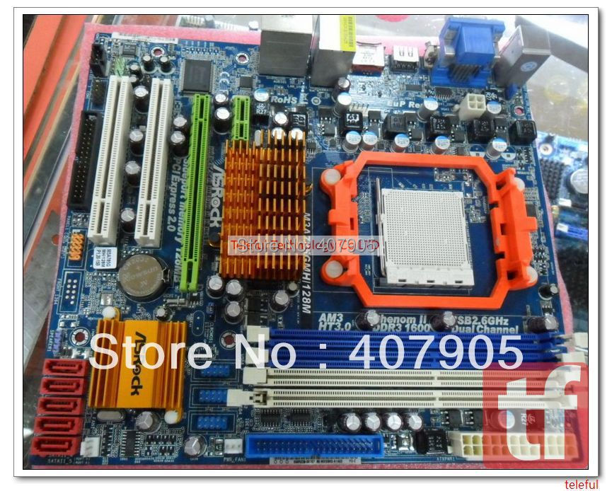 Motherboard for Asrock M3A785GMH 128M 512M AM3 DDR3 PC(China (Mainland))