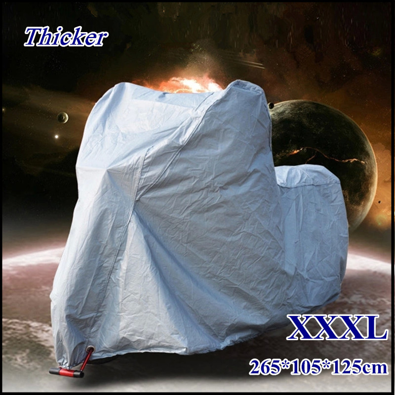 XXXL DoubleLayer Big Size Motorcycle Cover Waterproof Dustproof ,UV Protection Heavy Race Bike Cover,Rain Proof Scooter Cover G(China (Mainland))