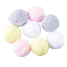 Buy Hoomall 100PCs Multicolor Pompoms Ball Fur Craft DIY Soft Pom Poms Wedding Home Decoration Sewing Cloth Accessories Round 3cm for $3.99 in AliExpress store