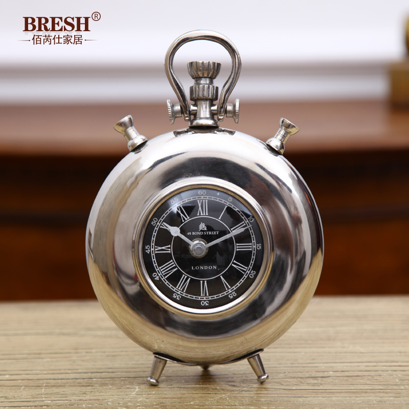 India's imports of high-grade modern study bedroom Decoration metal clock watch pocket watch Thomas(China (Mainland))