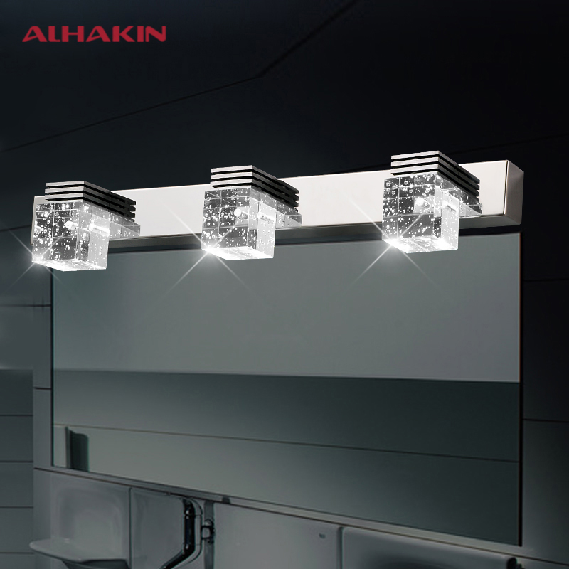 1-5 Heads Modern K9 Crystal Bubble Wall Light Stainless Steel Base Led Bathroom Anti-fog and Waterproof Wall Lights<br><br>Aliexpress