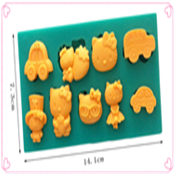 NICE Shaped Silicone Cake Mold cooking tools Sugar Paste 3D Fondant Cake Decoration Tools Silicone Mold(China (Mainland))