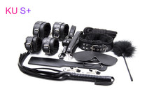 Buy KU S+ Adult Sex Game Leather 10pcs bdsm Bondage Kits Set Hand Cuffs Whip Rope Mask Fetish Restraints Sex Games couples for $27.28 in AliExpress store