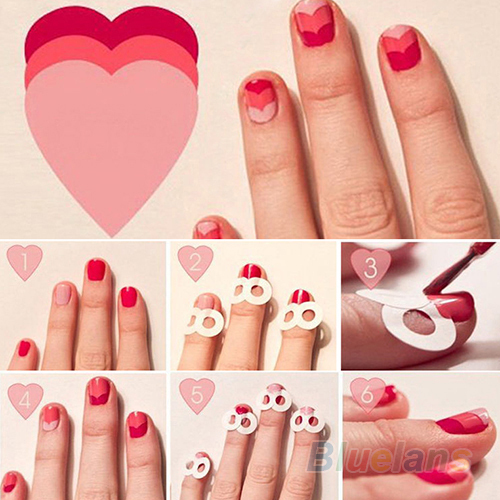 French manicure stencils