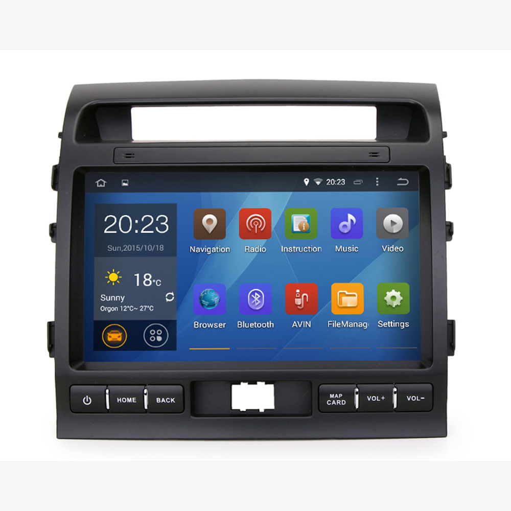 Super 10.1 inch Quad core Car GPS for Toyota Land Cruiser LC200 2008-2013 with Pure android 4.4.4 GPS WIFI 3G auto radio No Disc(China (Mainland))