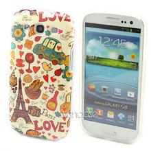 Cartoon B44 Eiffel Tower Soft TPU Case Cover Skin For Samsung Galaxy S III S3 i9300 i9305(China (Mainland))