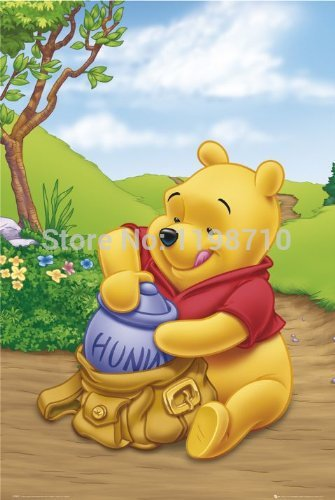 "Winnie the Pooh All art poster print 20X30 ""Wall Sticker Free Shipping(China (Mainland))"