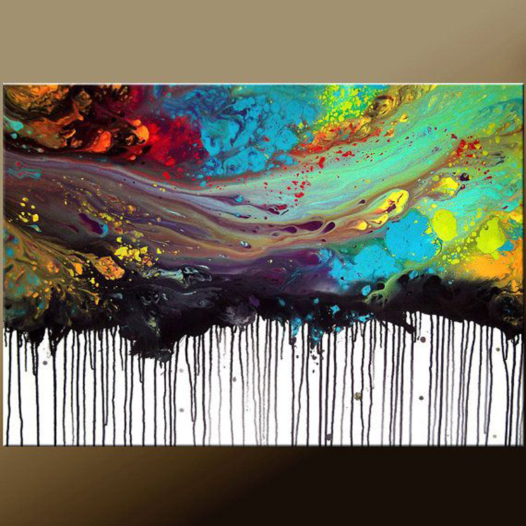 2015 new arrival artwork hand painted high quality for How to abstract paint