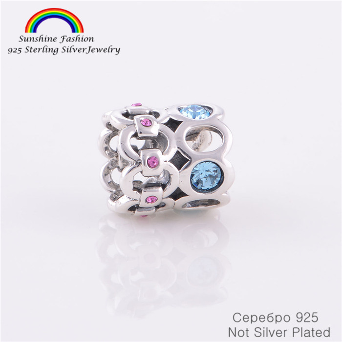 Pure 925 Sterling Silver Jewelry Findings Own Trend Novel Queen Crown Beads Fits Chamilia Pandora Charms Bracelet Women DIY(China (Mainland))