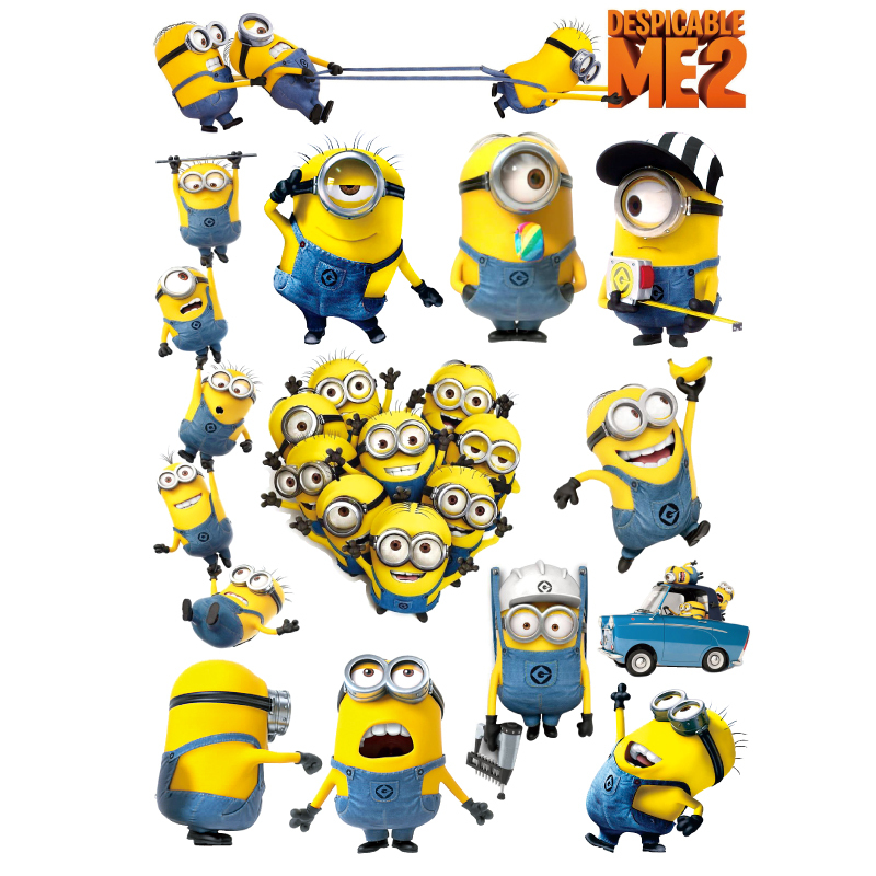 2015 Minions sticker car sticker car decals vinyl sticker transparent reflective pvc adhesive printing sticker(China (Mainland))