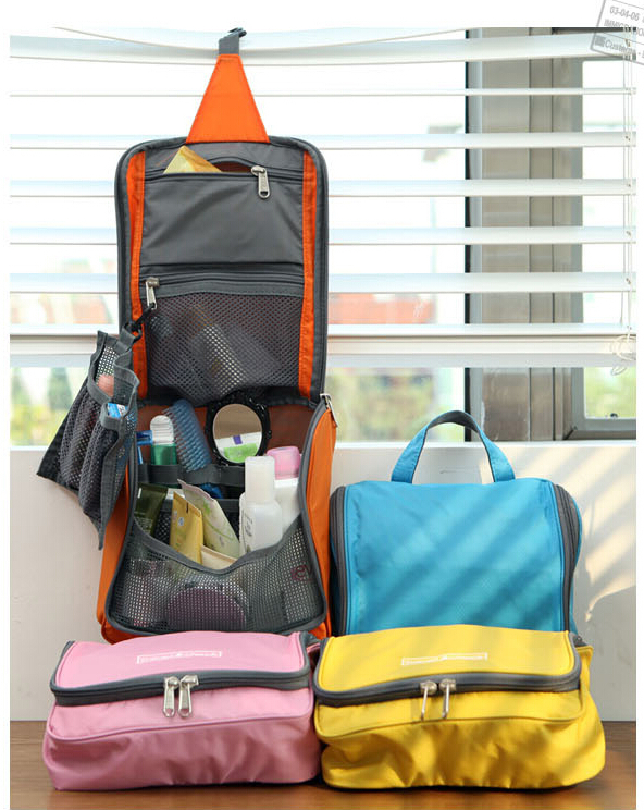 Woman Toiletry Makeup Kit Bag Storage Waterproof Cosmetic Bag Picnic Wash handBag Korea Multifunctional Organizer travel bag X18(China (Mainland))