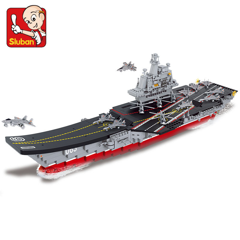 Building Block Sets Compatible lego Aircraft Carrier PLANLiaoning military 1 : 450 Construction Educational Hobbies Toys