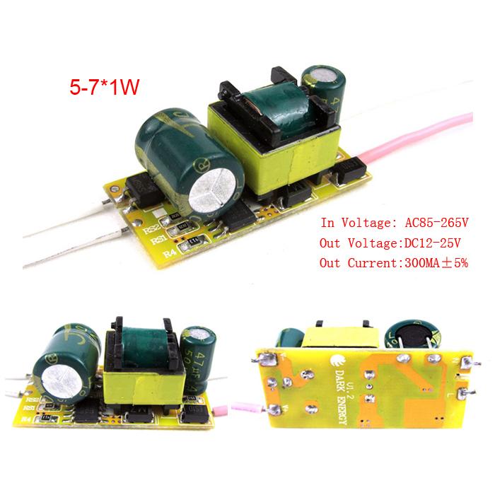 Factory wholesale 300Ma 5W 6W 7W Led Driver Power Supply Transformer for E27 E14 Bulb Spotlights 110V 220V CE RoHS 10PCS/Lot(China (Mainland))