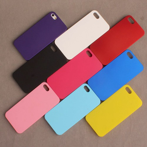 For Apple iPhone 5 Ultra Thin Scrub Phone Shell Frosted Plastic Matte Hard Back Case Cover For iPhone 5S/4S Protective Shell(China (Mainland))