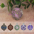 10pcs Mix Open Antique Vintage Lockets Essential Oil Diffuser Perfume Aromatherapy Lockets Necklace For Gifts