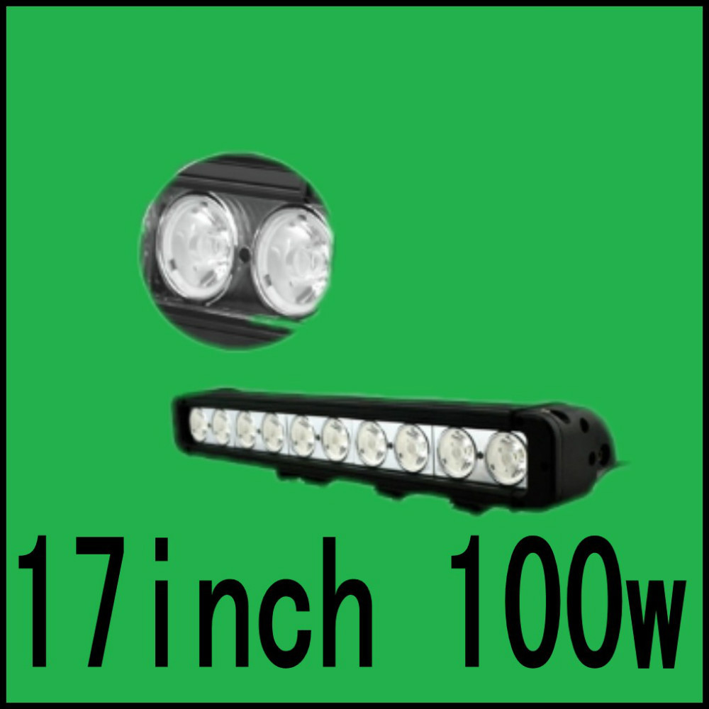 17inch 100w LED light bar for off Road indictors Work driving offeroad Boat Car Truck SUV cross country(China (Mainland))