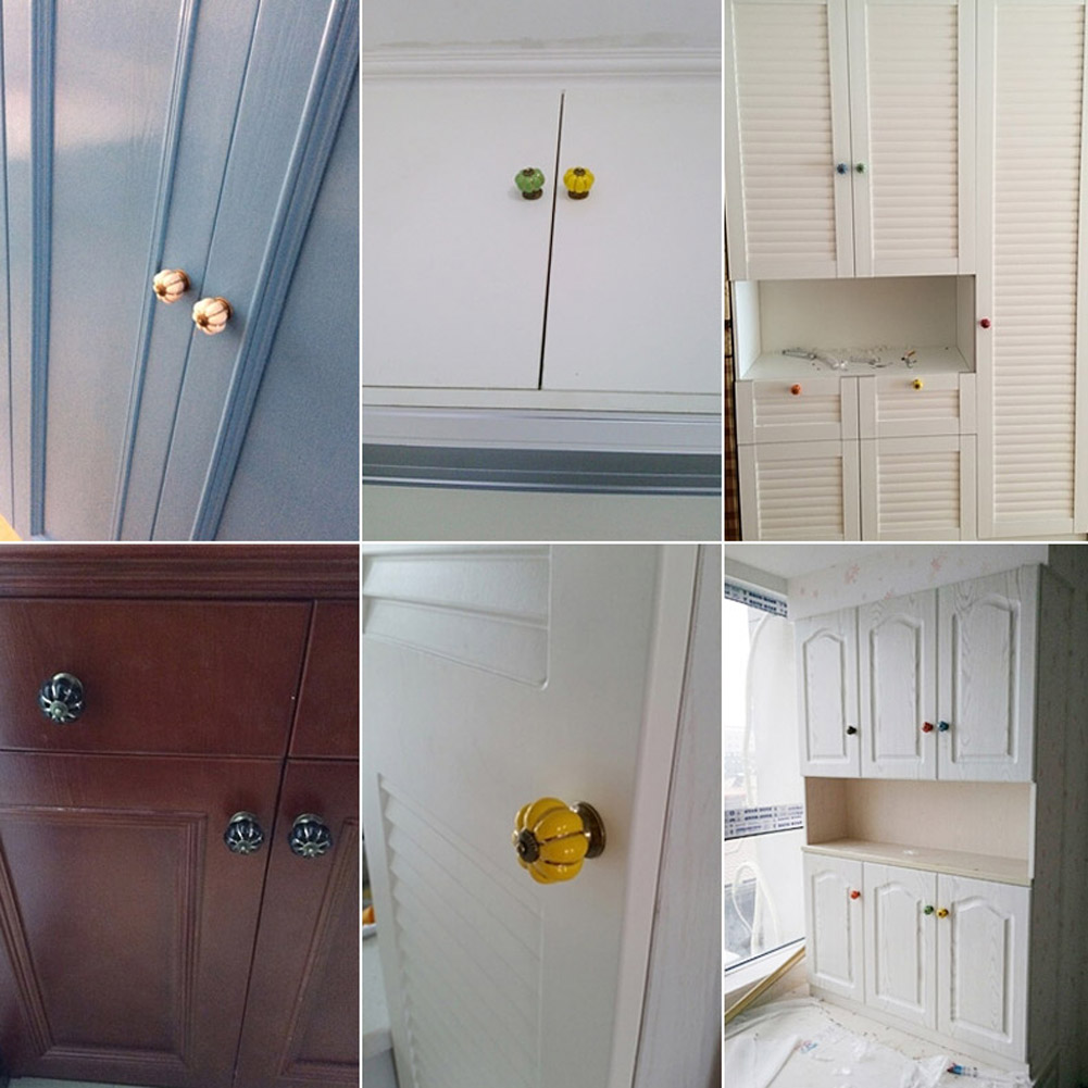 review vintage pumpkin cabinet knobs and handles door drawer