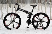 foldable  bike white black green mountain  bike  six spoke mountain bicycle  white black bike bicycle(China (Mainland))
