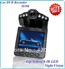 H198 2.5 inch Car DVR LED IR Vehicle DVR Road Dash Video Camera Recorder Traffic Dashboard Camcorder - LCD 270 degrees Rotated(China (Mainland))