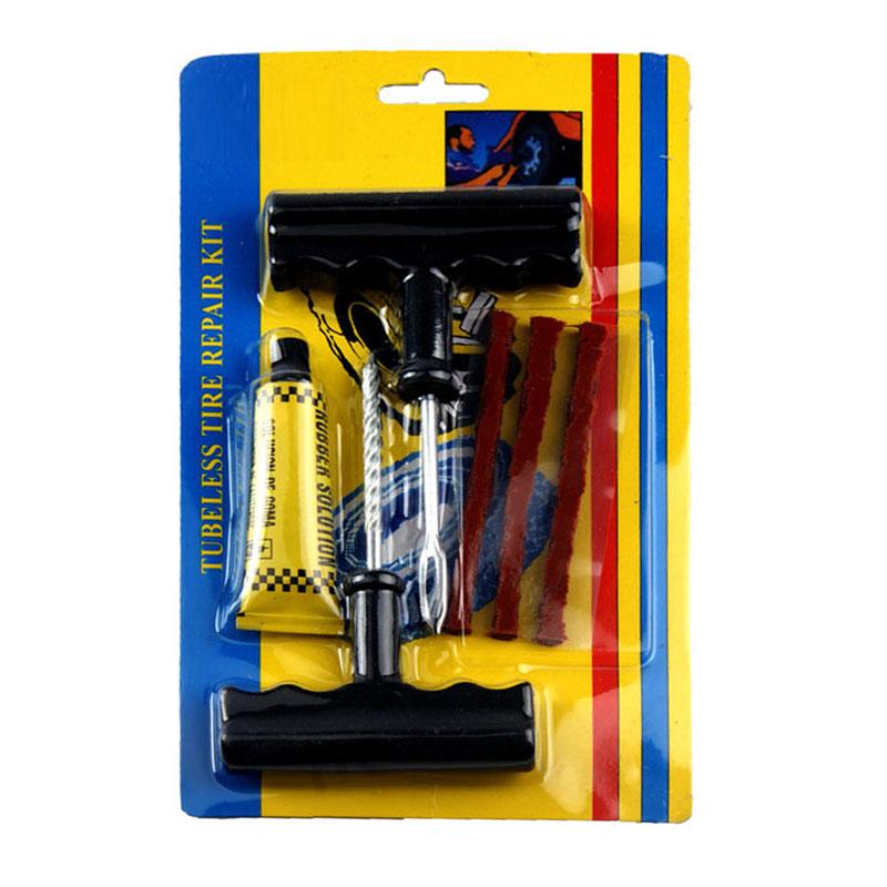 6Pcs/set Car Bike Auto Tubeless Tire Repair Kit Tyre Puncture Plug Repair Tool Kit Puncture Tubeless Tire Plug Repair Tool(China (Mainland))