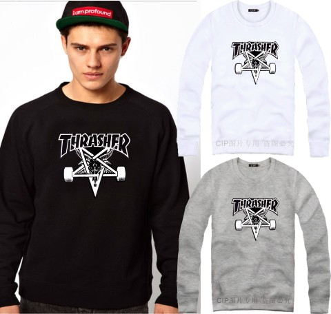 Lovers thrasher five-pointed star scooter men's fashion street o-neck sweatshirts hoodies men women dress clothing - Come In Please(CIP Company store)