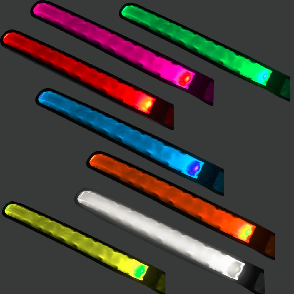 Nylon Fabric Luminous LED Circle Wrist Band Arm Band Sports Bracelet Outdoor Products Good Quality Hot!(China (Mainland))