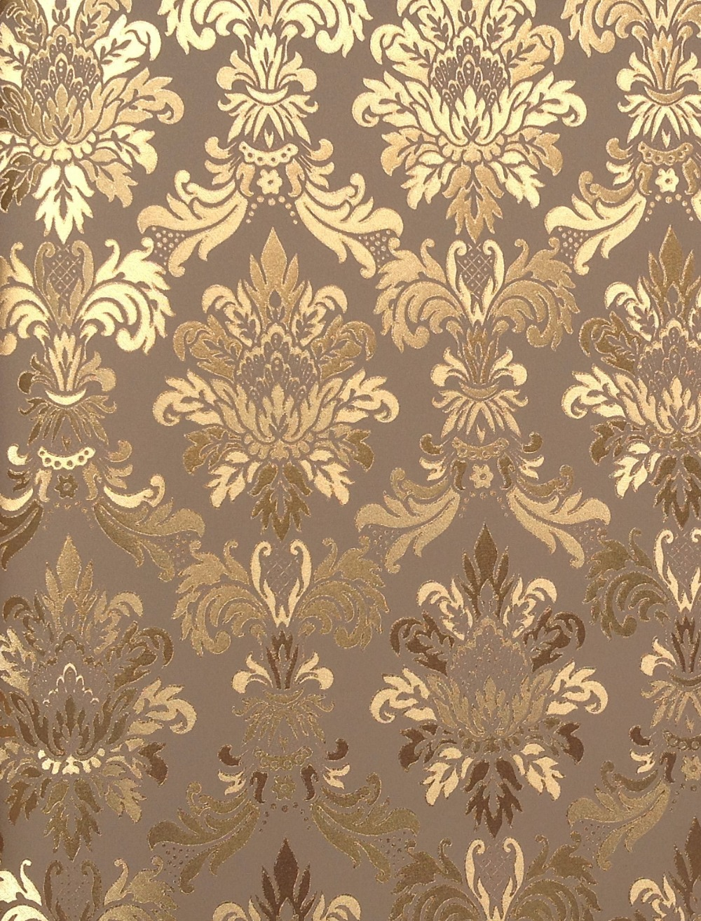 Cy222 gold foil wall paper chinese style vinyl wall paper for Gold wallpaper for walls