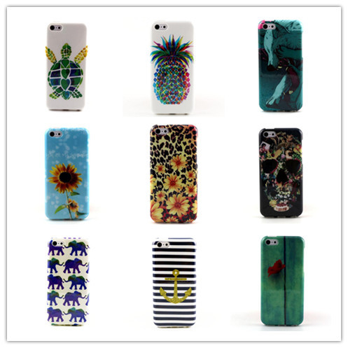 Drop shipping Lovely Cute Flower Elephone Pineapple Soft TPU cover Celular Capa Para case iphone 5c - Apbest Trading Ltd. store