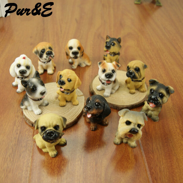 Set 12 dog resin High grade lovers home furnishing beautiful ornaments HDC908 - Pur&E crafts Co., Ltd. store