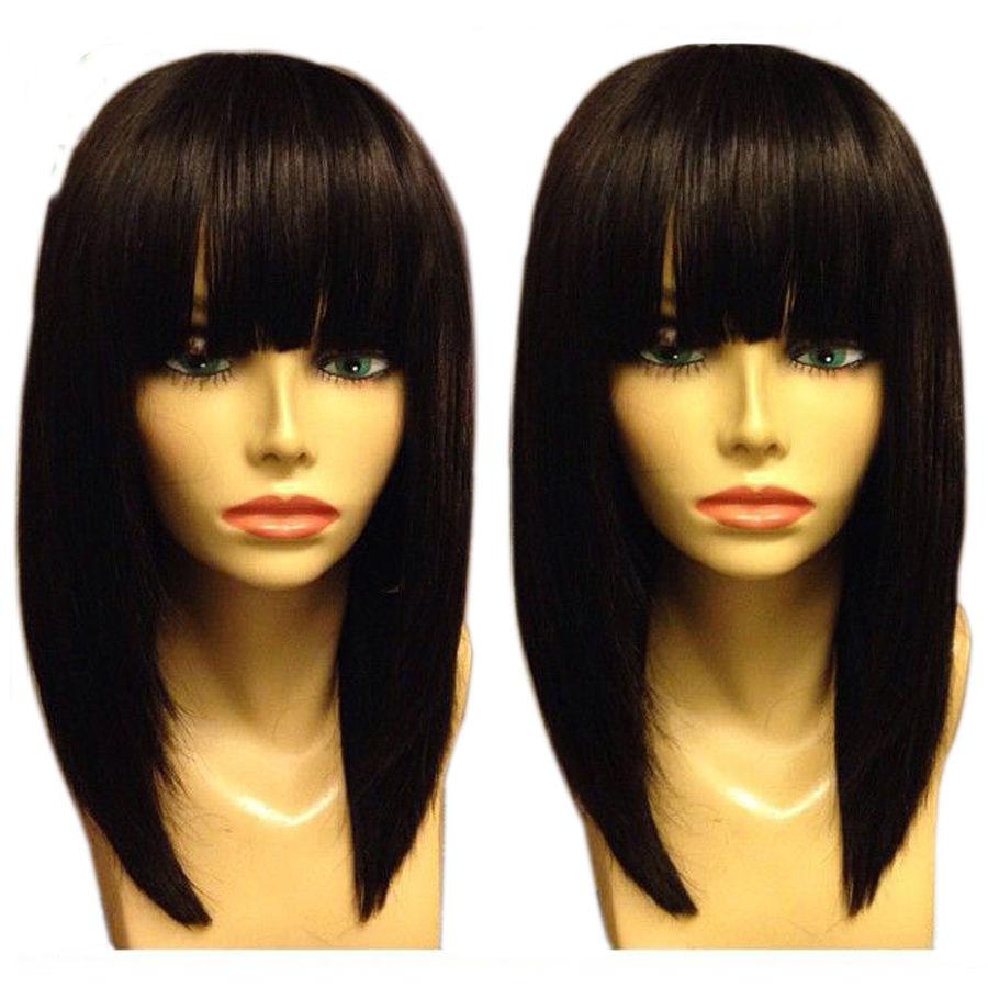 fashion bob wig brazilian human hair glueless full lace
