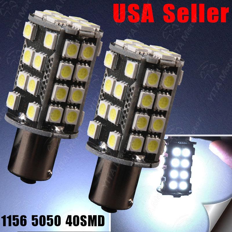Free Shipping Car Styling LED Car Bulbs 1156 ba15s 5050 40smd led Lights Lamps 1141 High Power Turn Signal Parking Light Bulb -A(China (Mainland))