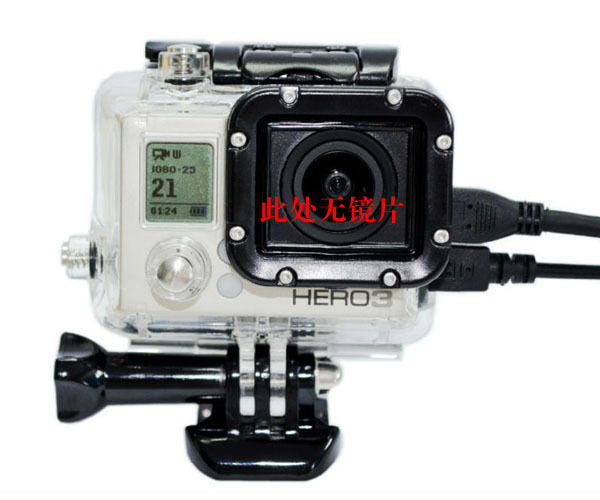 Gopro Hero 3 Skeleton Protective Housing case with lens Side-opening for AV,USB,HDMI Cable for gopro hero3 Accessories(China (Mainland))