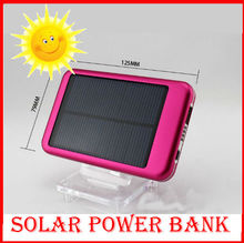 solar power bank 5000mah solar portable charger power bank for ipad iphone smart phone PDA , Solar Charger for Samsung Galaxy(China (Mainland))