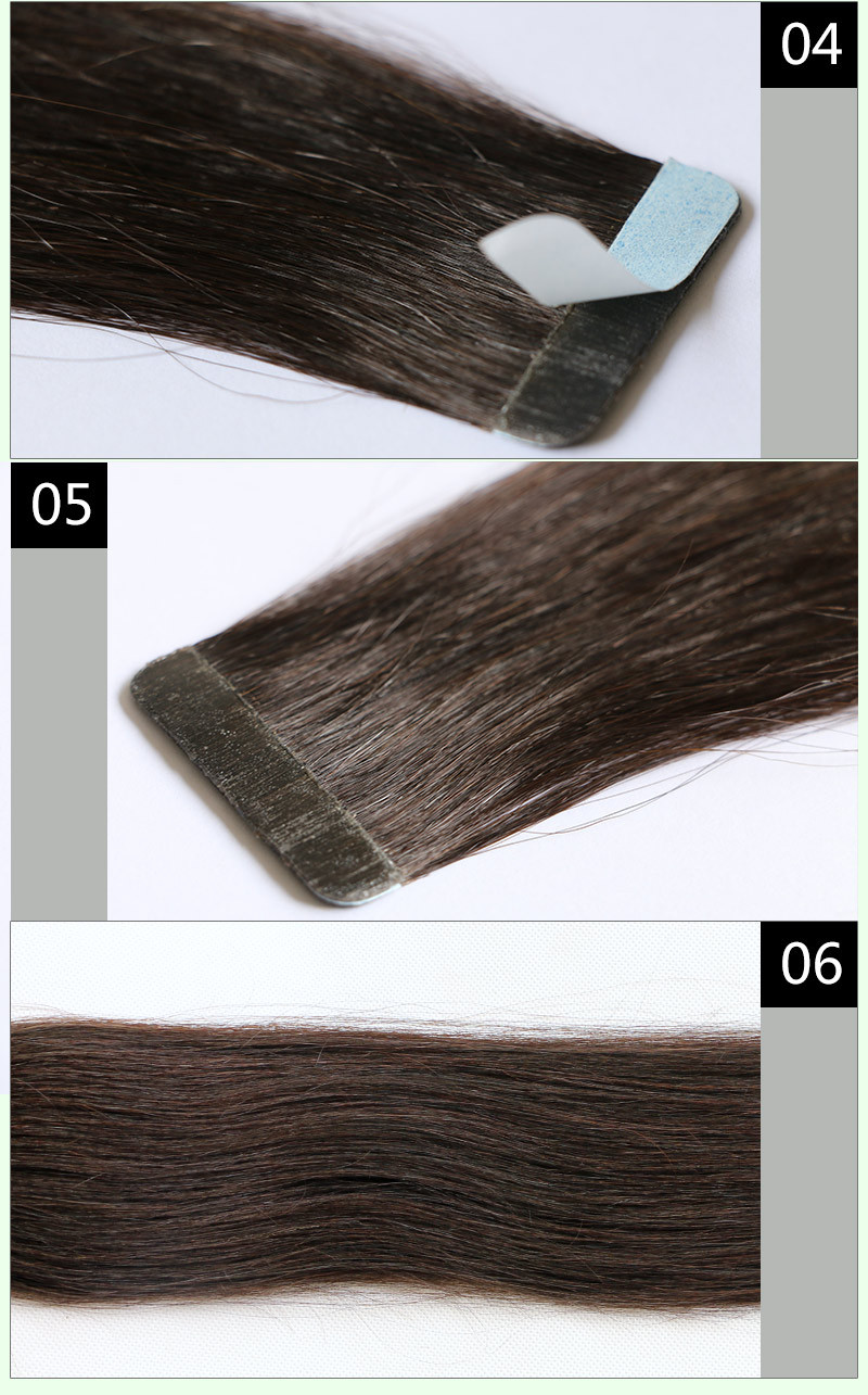 24# Tape in Human Hair Extensions Wavy Skin PU Weft Hair Extensions Blonde Ombre Tape in Human Hair Extensions Fast Shipping