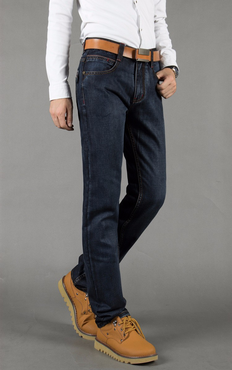 Jussara  LEE Brand Jeans Men Stripe Jeans Male Casual Straight  Denim Men's Jeans Slim  Wholesale Jeans