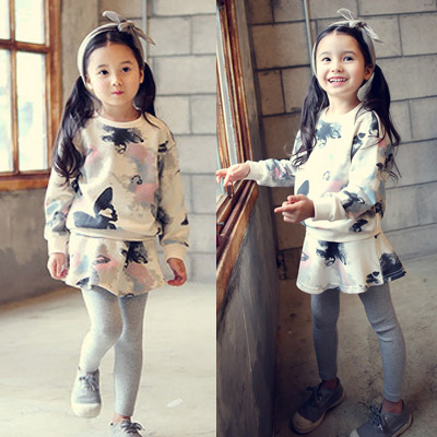 2016 New Kids Girls spring suit children suit skirt baby long sleeved sweater two piece tz-2588<br><br>Aliexpress