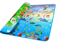 2015 Fashion Doulble-Site Baby Play Mat 2*1.8 Ocean And Zoo Child Outdoor Game Blanket Baby Crawling Mat 34(China (Mainland))