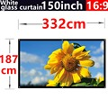 2016 new aarive 100 Inches 16:9 White glass curtain Projector Screen Suitable for HD 3D LED Smart Movie home theater Projector