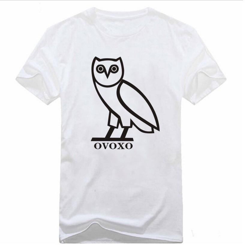 Mens T Shirts OVOXO Drake Swag Owl Printed 100% Cotton Casual Geek Top Tee camisetas Brand Clothing Quality Customized(China (Mainland))