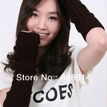 Coffee New Arrival Women Crochet Knitting Wrist Arm Warmer 2 Pair/Set   Free Shipping(China (Mainland))