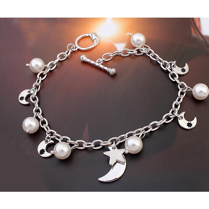 Aliexpress Moon Beauty Pearls Bracelets for Women Jewelry Made with Original Swarovski Element Birthday Gift Wholesale(China (Mainland))