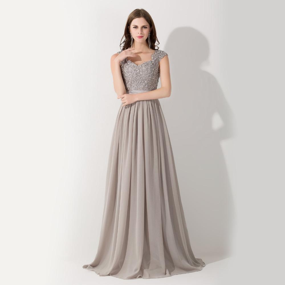 Online Get Cheap Grey Lace and Chiffon Evening Dress -Aliexpress ...