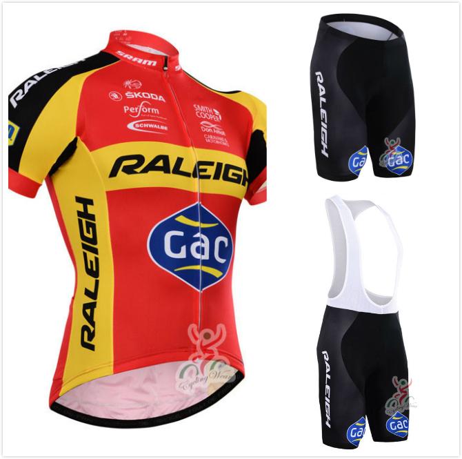 Pro team Raleigh cycling jersey bicycle clothing/ropa cicliso bicicleta MTB bike jersey with cycling bib shorts(China (Mainland))