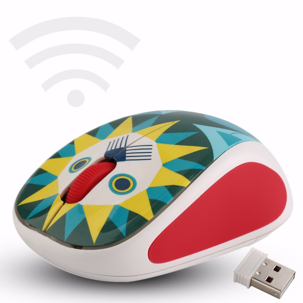 NEW Creative Style Wireless 3D Doll Pattern Small and portable Mouse Mice 4 Pattern Optional(China (Mainland))