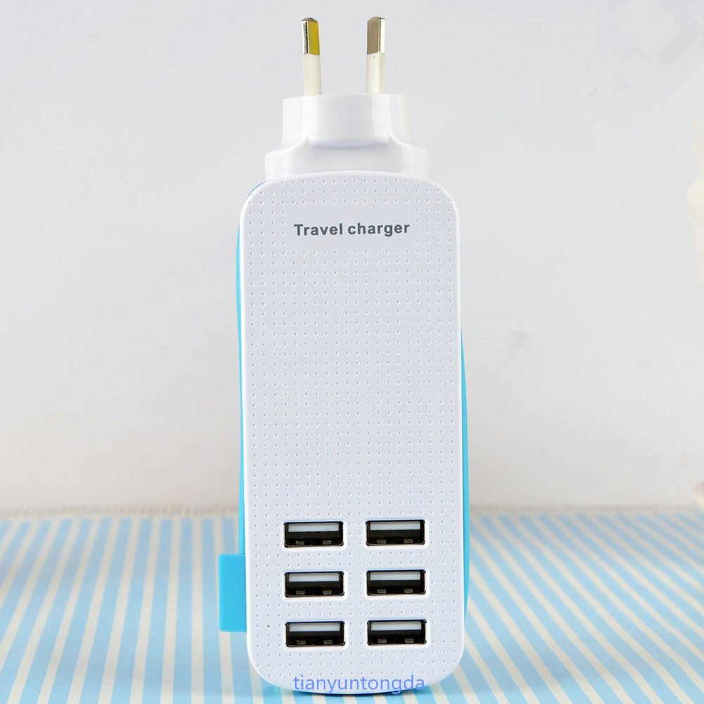 Universal 6 USB Port Travel Charger UK EU US Plug For Mobile PC Laptop Computer Notebook High Quality(China (Mainland))