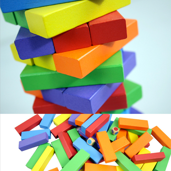 D601 ju wood quality goods increase layer cascade folds fold number tall blocks 51 color desktop interactive games to play<br><br>Aliexpress