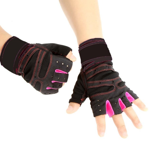 Тренажерный зал половина палец перчатки спорт фитнес упражнения наручные многофункциональный ...