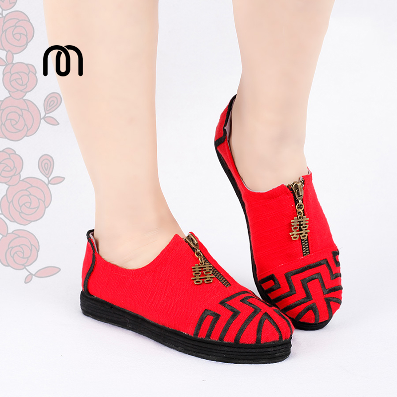 Фотография Millffy original national wind spring and summer shoes old Beijing Melaleuca soles flat low-heeled shoes