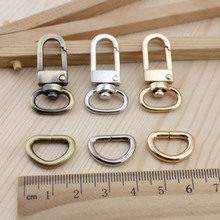 10set/lot Bronze Silver Bag Parts & Accessories Luggage bag buckle Snap hook/Dog,Bag hanger Lobster Clasp D ring 12 mm diameter(China (Mainland))